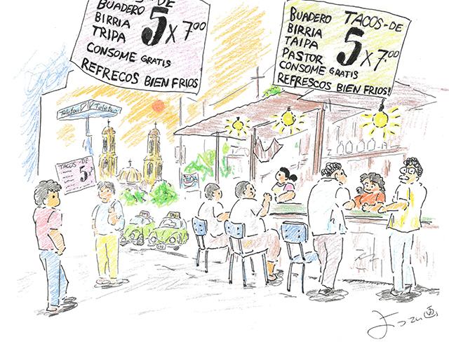 自転車世界一周の旅~よってぃ絵日記(その2 メキシコ)