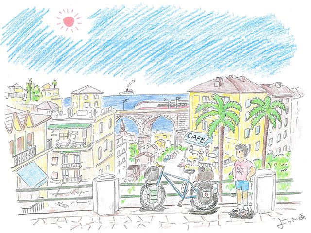 自転車世界一周の旅日記(その16)イタリア~メルヘンチックな町