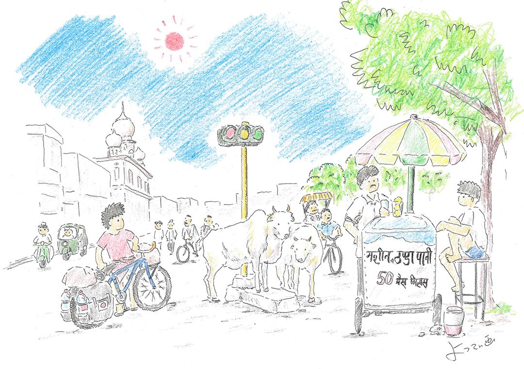 自転車世界一周の旅日記(その30)インド入国の巻