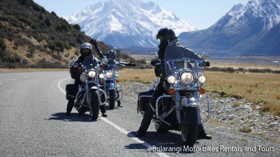 ハーレーで走るニュージーランド南島 8日間(モデルプラン)